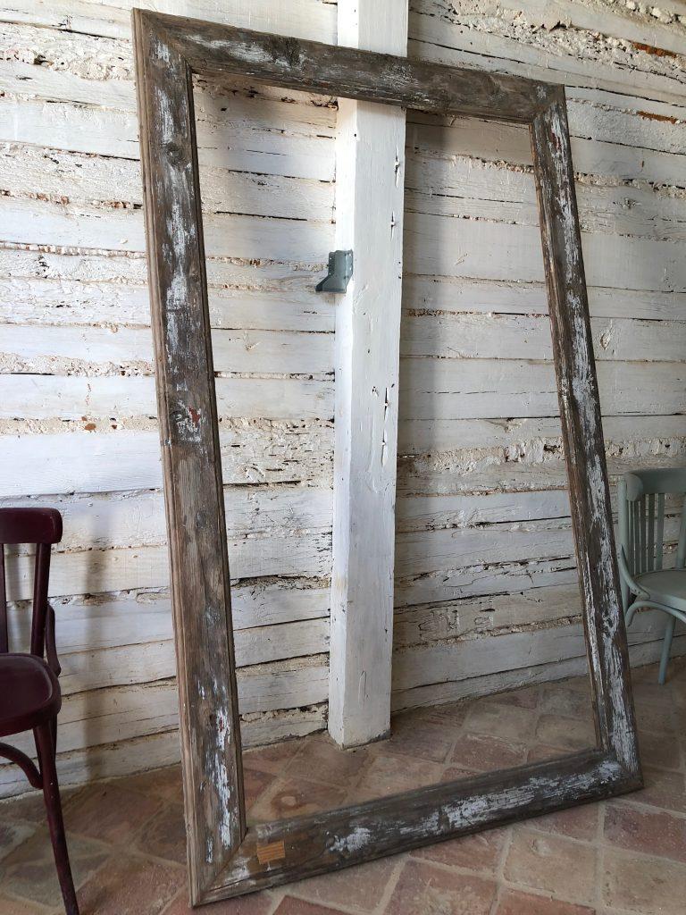 Marco para espejo a medida con maderas recicladas