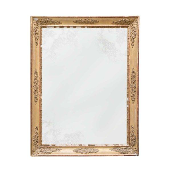 espejo antiguo con marco dorado Lamadrid